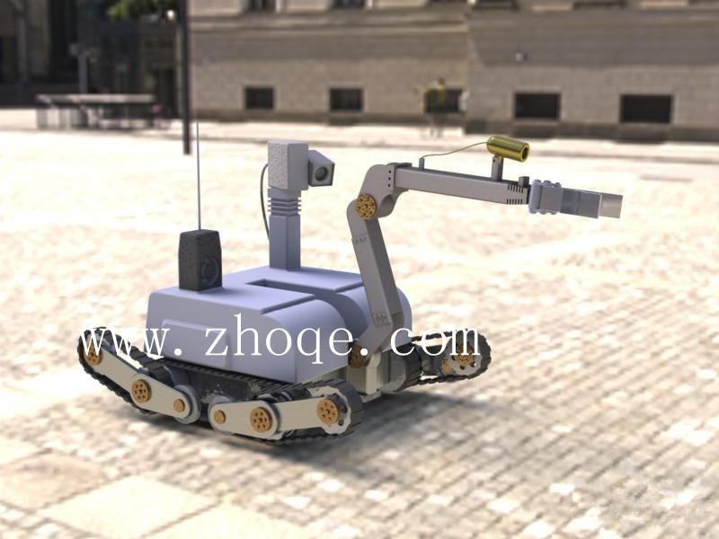小型摆臂机器人履带底盘zr-3